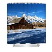 Moulton Barn Closeup Shower Curtain