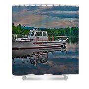Moultonborough Fire Boat Shower Curtain