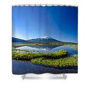 Mount Bachelor And Sparks Lake Shower Curtain