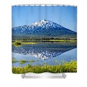Mount Bachelor Reflection Shower Curtain