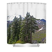 Mount Baker Area Wilderness Shower Curtain