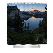Mount Baker Chain Lakes Awakening Shower Curtain