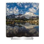 Mount Baker Cloudscape Shower Curtain