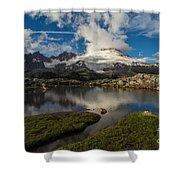 Mount Baker Skies Reflection Shower Curtain