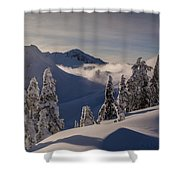 Mount Baker Snowscape Shower Curtain by Mike Reid