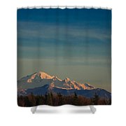Mount Baker Sunset Shower Curtain