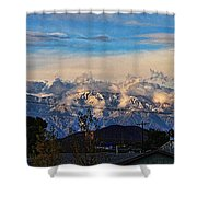 Mount Baldy On A New Years Eve Shower Curtain