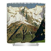 Mount Blanc Mountains Shower Curtain