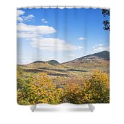 Mount Blue State Park In Fall Weld Maine Shower Curtain