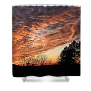 Mount Cheaha Sunset-alabama Shower Curtain