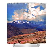 Mount Chicon Rainbow In Andes Shower Curtain