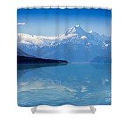 Mount Cook Reflecting In Lake Pukaki Shower Curtain