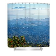 Mount Diablo From Mount Tamalpias-california Shower Curtain