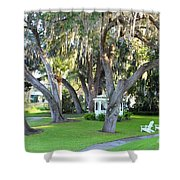 Mount Dora Shower Curtain by Carey Chen
