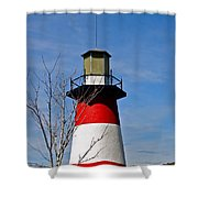 Mount Dora Lighthouse Close Up Shower Curtain