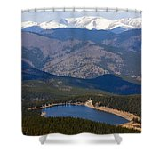 Mount Evans And Echo Lake Shower Curtain
