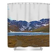 Mount Evans And Summit Lake Shower Curtain