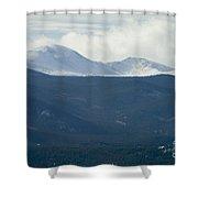 Mount Evans In Snow Shower Curtain