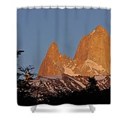 Mount Fitz Roy At Sunrise Shower Curtain