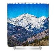 Mount Gardner Close Up Shower Curtain by Omaste Witkowski
