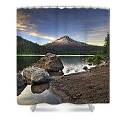 Mount Hood At Trillium Lake Sunset Shower Curtain