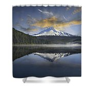 Mount Hood At Trillium One Early Morning Shower Curtain