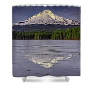 Mount Hood Reflections Shower Curtain
