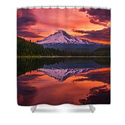 Mount Hood Sunrise Shower Curtain
