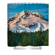 Mount Hood Winter Shower Curtain