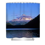 Mount Hoods Looms Over Lost Lake  Hood Shower Curtain