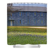 Mount Horeb Masonic Lodge 137 With Bluebonnets Shower Curtain
