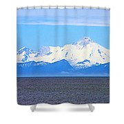 Mount Iliamna Across Cook Inlet From Ninilchik-alaska Shower Curtain