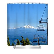 Mount Jefferson And Chairlifts Shower Curtain