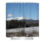 Mount Katahdin Winter 3 Shower Curtain