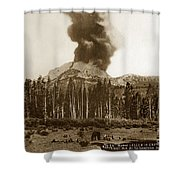 Mount Lassen Volcano California 1914 Shower Curtain