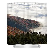 Mount Mitchell Morning Shower Curtain
