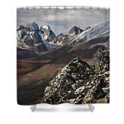 Mount Monolith From Grizzly Lake Shower Curtain