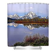 Mount Moran And Jackson Lake Shower Curtain