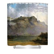 Mount Olympus. Lake St Clair. Tasmania The Source Of The Derwent Shower Curtain