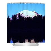 Mount Rainer At Tipsoe Lake In The Sunrise Shower Curtain