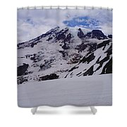 Mount Rainer In The Clouds Shower Curtain