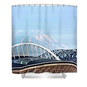 Mount Rainier Backdrop Shower Curtain