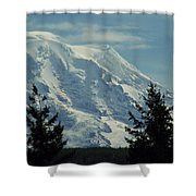 Mount Rainier From Patterson Road Shower Curtain