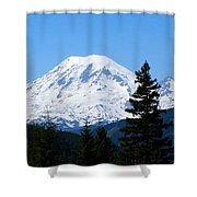 Mount Rainier Panorama Shower Curtain