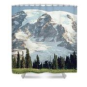 Mount Rainier Peak Shower Curtain