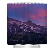 Mount Rainier Sunrise Shower Curtain
