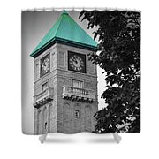 Mount Royal Teal Shower Curtain