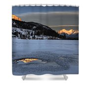 Mount Rundle And Vermillion Lakes Shower Curtain