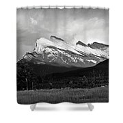 Mount Rundle At Banff National Park Shower Curtain