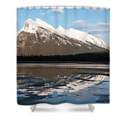 Mount Rundle Reflections Shower Curtain